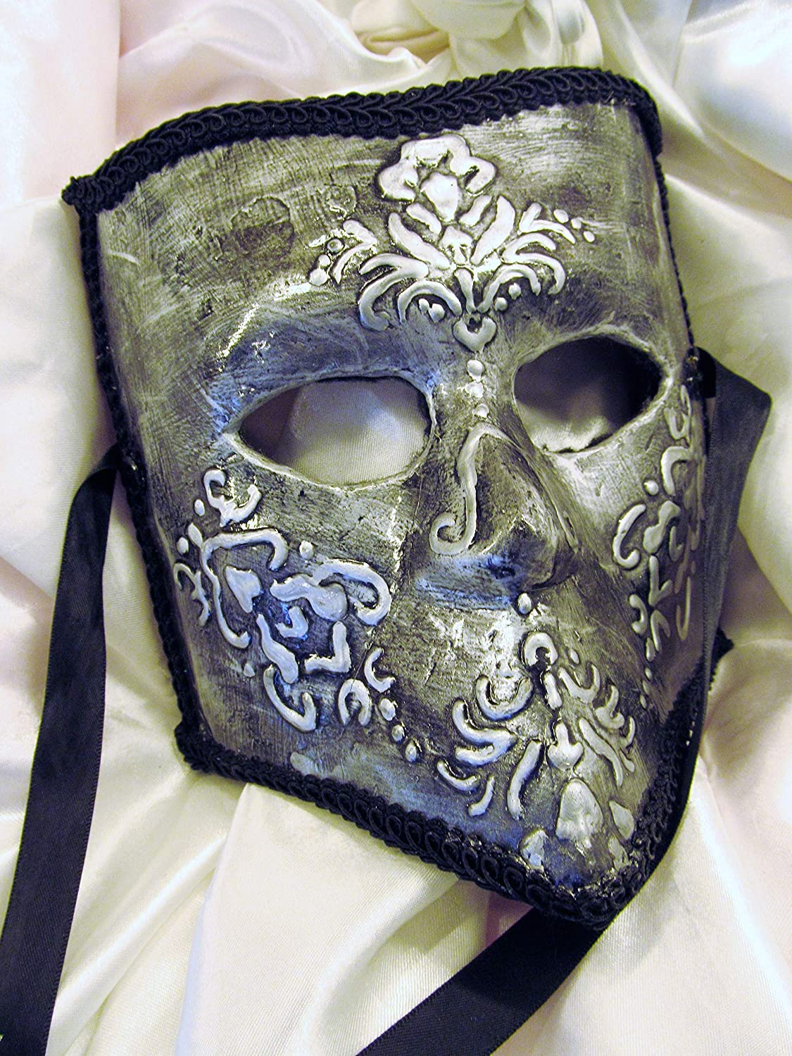 Argento Free shipping on famous posting reviews Cavaliere Bauta- Silver Mask Knight Men's