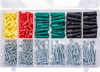 T.K.Excellent Phillips Pan Head Self Tapping Screws and Ribbed Anchors Assortment Screws Kit,400Pcs