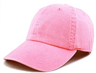 31c4fd282b451 THE HAT DEPOT 100% Cotton Pigment Dyed Low Profile Six Panel Cap Hat