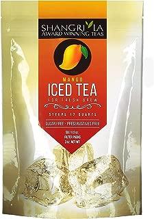 Shangri La Tea Company Iced Tea, Mango, Bag of 6, 1/2 Ounces Pouches