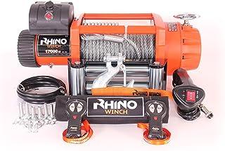 Cabrestante Rhino Winch para remolcar vehículos todoterreno, de 12 V y que soporta 7,6 toneladas