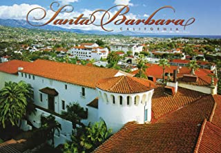SBPC 109-11b VIEW FROM COURTHOUSE TOWER, SANTA BARBARA, .. POST CARD .. from Hibiscus Express