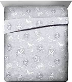 Disney Nightmare Before Christmas Meant to Be Queen Sheet Set - 4 Piece Set Super Soft Kid's Bedding Features Jack Skellington - Fade Resistant Polyester Microfiber Sheets (Official Product)