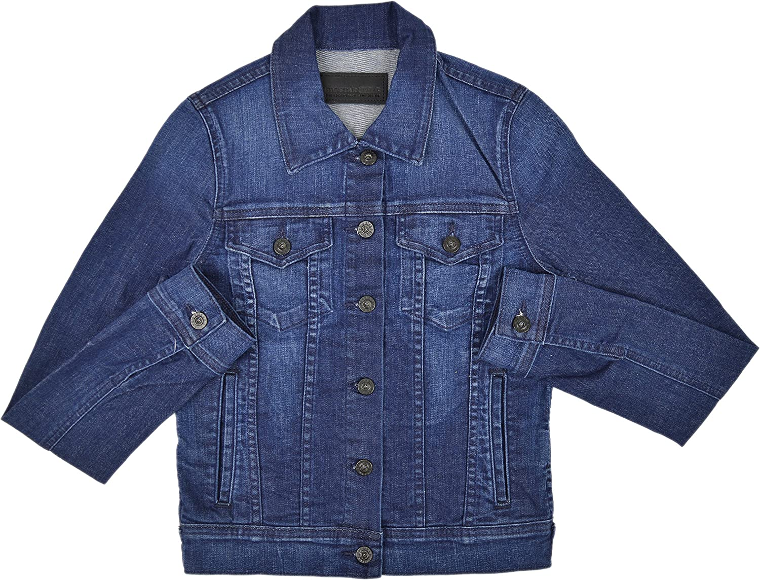 Big Star Women's Cotton Seamed Denim Button Down Jean Jacket Dark Wash XSmall