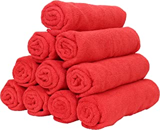 Arkwright Smart Choice Microfiber Towel Pack of 12 (16 x 27 inch, Red)