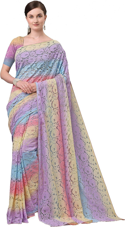 Jacksonville Mall Voga Women's Jacquard Net Saree Ethnic Gorgeous Wedding Sa Dresses Indian