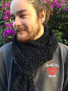 Bufanda únisexo de lana tipo velour, para hombre o mujer