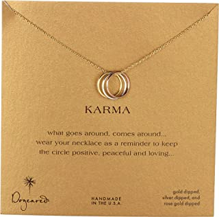 Women's Triple Karma Ring Necklace