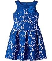 Us Angels - Sleeveless Lace and Scuba Drop Waist with A Pleat Skirt (Toddler/Little Kids)
