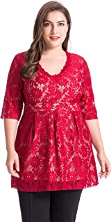 Best ruby red plus size tops Reviews
