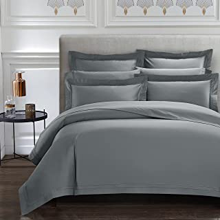 CASA BOLAJ DESIGNED TO DREAM Triomphe Collection 3 Pieces Do Not Include Filling Grey Color Queen Size Duvet Cover Set 10...
