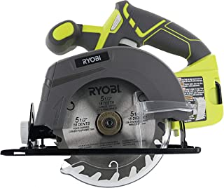 Ryobi One P505 18V Lithium Ion Cordless 5 1/2in 4,700 RPM Circular Saw (Battery Not Included, Power Tool Only), Green (Ren...