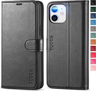 TUCCH iPhone 12 Pro/12 Wallet Case, RFID Blocking iPhone 12 Pro Card Slot Stand [Shockproof TPU Interior Case] PU Leather ...