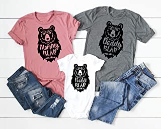 Mommy Bear Daddy Bear Baby Bear Matching Shirt Set Sister Bear Brother Bear Family Bear Shirts Mommy and Me Shirts Daddy and Me Shirts