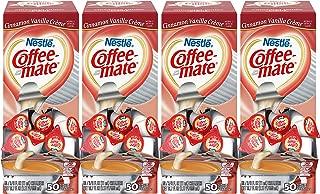 NESTLE COFFEE-MATE Coffee Creamer, Cinnamon Vanilla Creme, 0.375oz liquid creamer singles, 50 Count (Pack of 4)