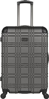 Ben Sherman Nottingham 24-inch Check-Size Lightweight Durable Hardshell 4-Wheel Spinner Upright Luggage, Charcoal