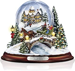 The Bradford Exchange Thomas Kinkade Jingle Bells Illuminated Musical Christmas Snowglobe