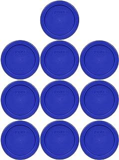 Pyrex 7202-PC 1 Cup Cadet Blue Storage Lid for Glass Bowls (10, Cobalt Blue)