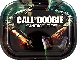 Metal Rolling Tray, Call of Doobie Design by V Syndicate, Small (Available in 2 Sizes)