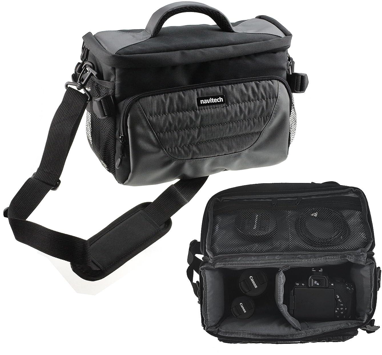 Navitech Grey DSLR & Lense Camera Bag Case Compatible with The Canon EOS-1DX Mark II