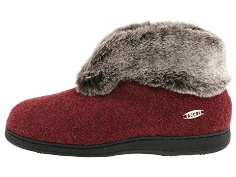 Faux Acorn Bootie BlackCrackleberry Chinchilla II RXxwqWH6