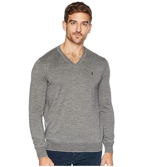 06659fa27 Polo Ralph Lauren Washable Merino V-Neck Sweater at Zappos.com