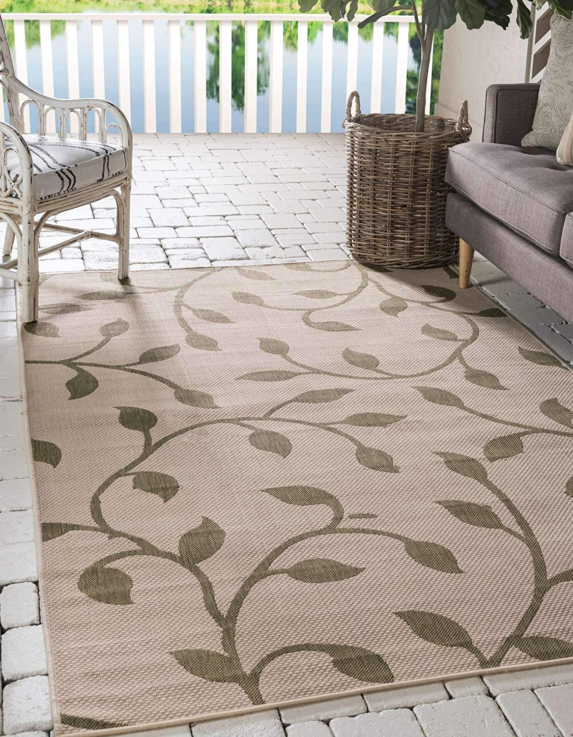 Max 54% OFF Unique Easy-to-use Loom Botanical Collection Transitional Indoo Vines Floral