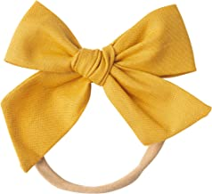 Handmade Cotton Hair Bows For Baby Girls and Toddlers (One Size Fits All)