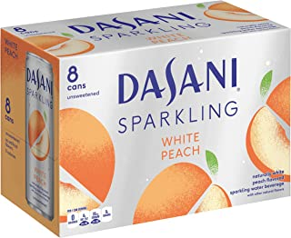 DASANI Sparkling, White Peach, 12 fl oz, 8 Pack