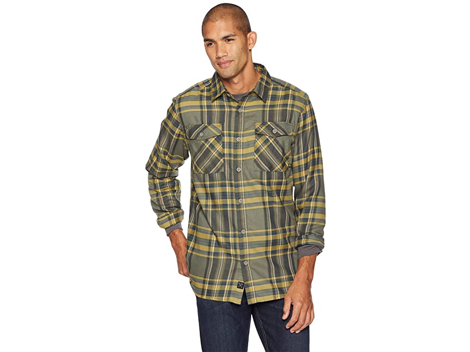 Mountain Hardwear Trekkintm Flannel Long Sleeve Shirt (Peatmoss) Men