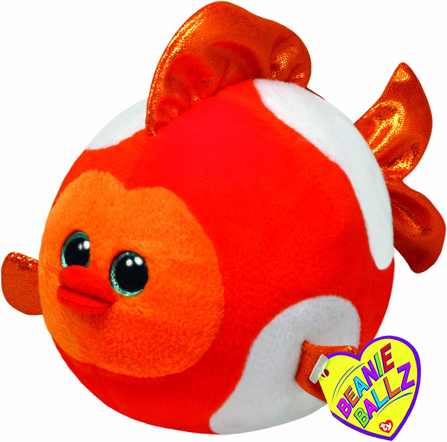 TY Beanie Ballz - BUBBLES the goldfish (LARGE - 8 inch)