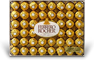 Ferrero Rocher Fine Hazelnut Chocolates, 21.1 Oz, 48 Count