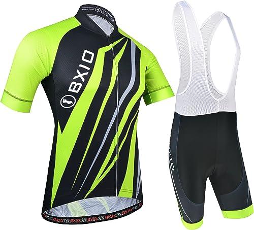 BXIO Combinaison de vêtements de vélo, Vêtements de Vélo Route Vec Pantalon Cyclisme Séchage Rapide per VTT Sports de...