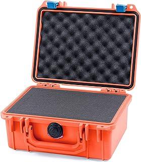 Pelican Orange & Blue Pelican 1150 case with Pluck Foam Set