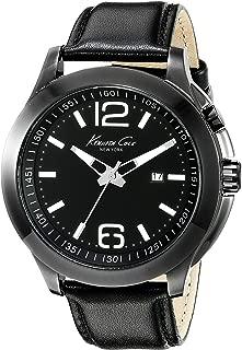 Kenneth Cole New York Men's 10022558 Technology- Backlight Analog Display Japanese Quartz Black Watch