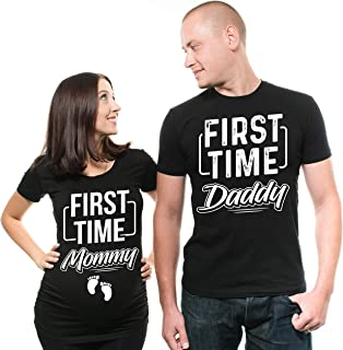 048b3afd3fdfe First time Daddy First time Mommy Pregnancy T-Shirt True matenrity Shirt  Couple Shirts