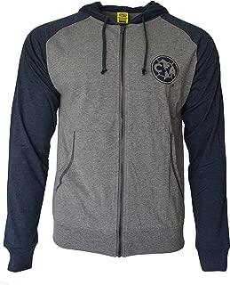 Club America Hoodie Soccer Lightweight Fz Summer Light Zip up Jacket Grey Adults