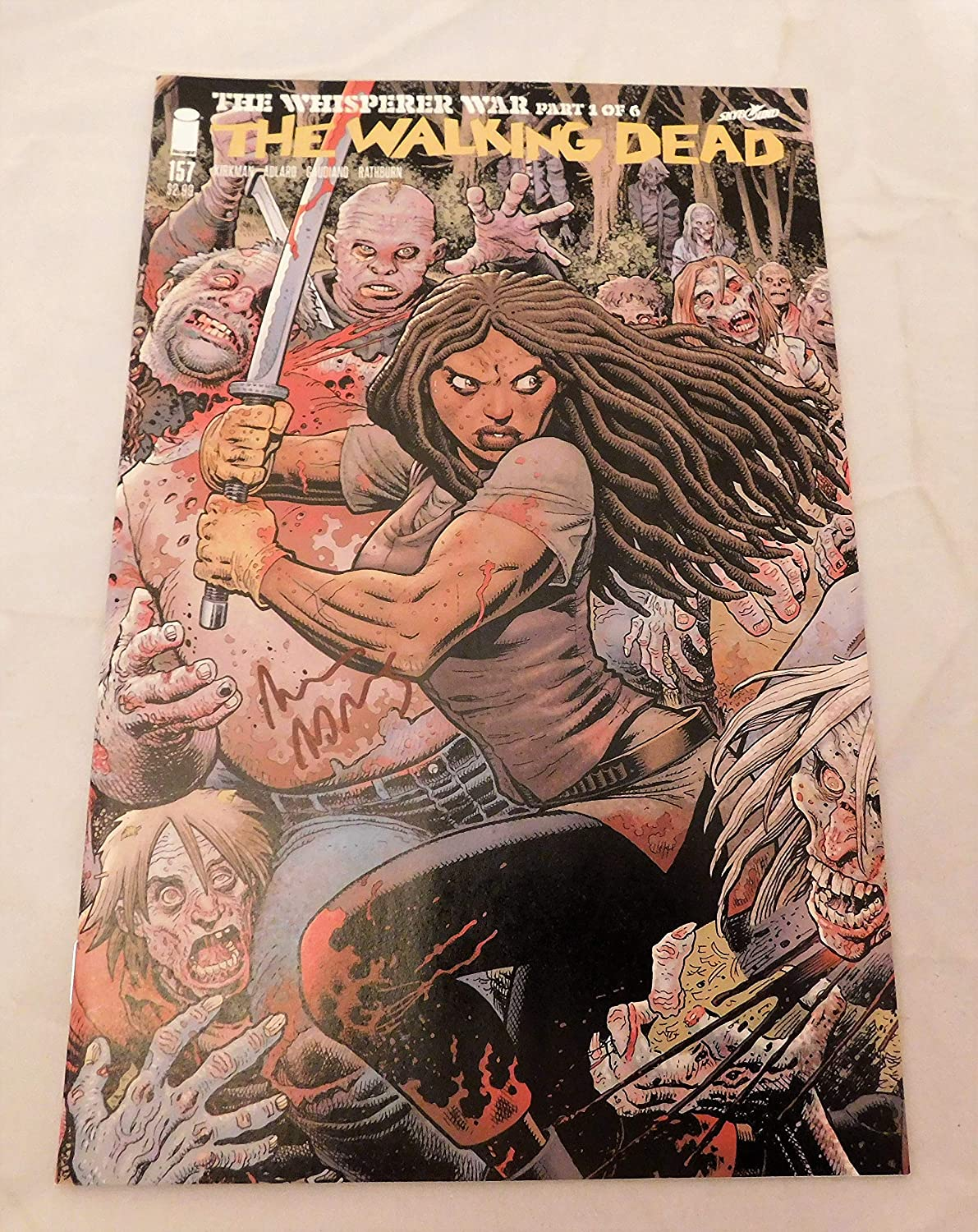 Walking Dead #157 Whistperer War Ranking TOP3 Max 61% OFF Signed 1st Print Autographed