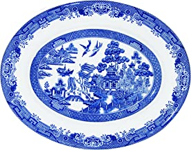 Churchill Blue Willow Fine China Earthenware Oval Dish 12.5