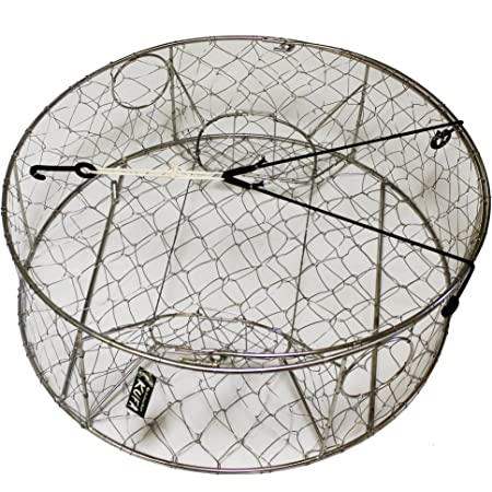 Size: 24x24x12H S60x2 2-Pack of KUFA Vinyl Coated Crab Trap with 4 Single Way Entrance