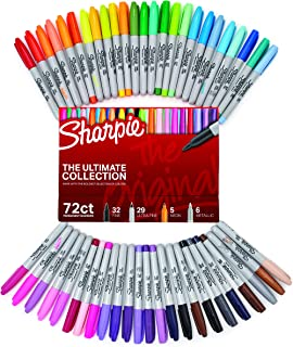 Sharpie Permanent Markers Ultimate Cosmic Color Collection, Fine and Ultra Fine Points, Assorted Colors, 45 Count 72-Count