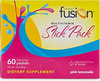 Bariatric Fusion Multivitamin & Mineral Stick Packs Pink Lemonade for Gastric Bypass and Sleeve Gastrectomy