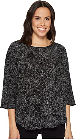 Vince Camuto - Elbow Sleeve Textured Dashes Center Front Seam Blouse