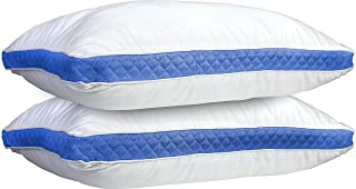 Lux Decor Collection Gusseted Quilted Bed Pillows - Set of 2 Premium Bed Pillows for Side Sleepers and Back Sleepers - 2 P...
