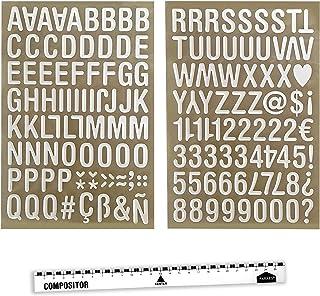 PARAES Lettres adhésives 3D (32 cm de Haut) - 127 PC - 50 PCS Scrapbooking Accessoires Autocollant Album Photo Autocollant...