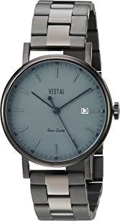 Vestal 'Sophisticate 36 Metal' Swiss Quartz Stainless Steel Dress Watch, Color Black (Model: SP36M05.3BLX)