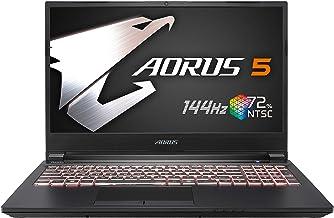 [2020] AORUS 5 (SB) Gaming Laptop, 15.6-inch FHD 144Hz IPS, GeForce GTX 1660 Ti, 10th Gen Intel i7-10750H, 16GB DDR4, 512G...