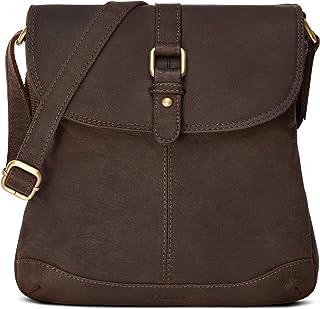LEABAGS Messenger Bag/Umhängetasche/Schultertasche aus echtem Büffelleder - Vintage -Paris