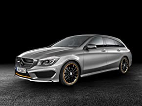 Mercedes-Benz CLA 250 4Matic Shooting Brake (2014) Car Art Poster Print on 10 mil Archival Satin Paper Silver Front Side Studio View 36