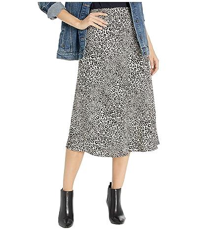 kensie Cheetah Print Skirt KS9K6360 (Almond Combo) Women